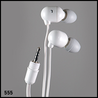 UwaterG2/G4 - 100% Waterproof Stereo Earphones 2.5mm screw-in jack-White