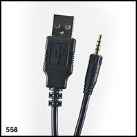 UWaterG2/G4 - 2.5mm screw in jack USB Cable