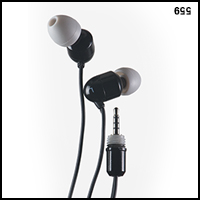 UwaterG2/G4 - 100% Waterproof Stereo Earphones 2.5mm screw-in jack
