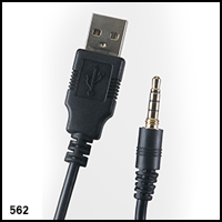 UwaterK7 3.5mm Screw-in jack USB Cable