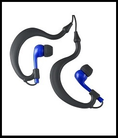 Uwater Triple-Axis Waterproof Action Stereo Earphones For Fitness (Blue)