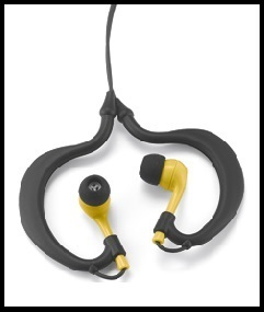 Uwater Triple-Axis Action Waterproof Stereo Earphones (Yellow)