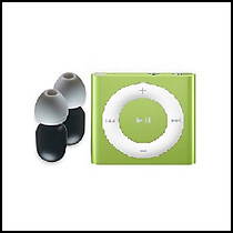 New Waterproof Ipod Shuffle with 100% Waterproof Earphones-Green
