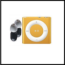 New Waterproof Ipod Shuffle with 100% Waterproof Earphones-Orange